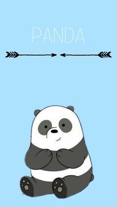 Pin Image by Joke Aesthetic Cute Panda Wallpaper, Cartoon Wallpaper Iphone, Bear Wallpaper, Cute Disney Wallpaper, Kawaii Wallpaper, Cute Wallpaper Backgrounds, We Bare Bears Wallpapers, Panda Wallpapers, Cute Cartoon Wallpapers