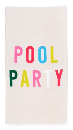 Pool Party Giant Beach Towel