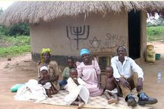 "The Abayudaya people of Uganda. Aba (Father) + Yuda (Juda) + Aya (I). ""I am Judah is Father"" or in other words, ""I am the son of Judah"". Notice the menorah and the word ""Shalom"" (peace) on the wall."
