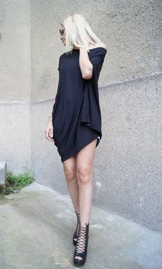 Oversized top/Asymmetrical Tunic/Summer Top/Draped by FloAtelier