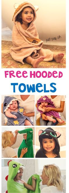 Free Baby Stuff: Hooded Towels for Kids and Babies!  So many cute patterns to choose from, and these make such great gifts, too!