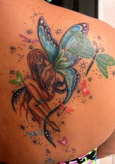 Butterfly Fairy Tattoos | butterfly fairy tattoos are one of the best combinations used while ...