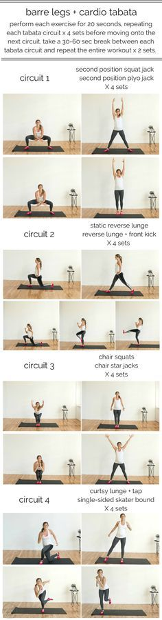 plié and lunge your way to stronger legs with 8 cardio-barre exercises in this fast-paced barre legs cardio tabata circuit. plié and lunge your way to stronger legs with 8 cardio-barre exercises in this fast-paced barre legs cardio tabata circuit. Lower Ab Workouts, Tabata Workouts, Butt Workout, Easy Workouts, At Home Workouts, Workout Circuit, Cardio Routine, Workout Routines, Step Workout