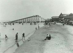 Cedar Point beach back in the day