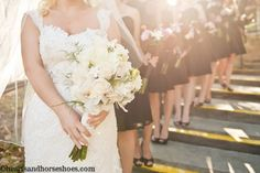 Lake Arrowhead Wedding! Mountain wedding!  Bridal party. Bridesmaids.   www.heartsandhorseshoes.com
