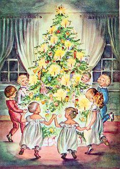 The Fir Tree 1945 Fairy Tale, illustration Tasha Tudor, Hans Christian Anderson
