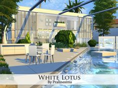 White Lotus house by Pralinesims at TSR via Sims 4 Updates