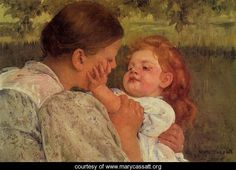 great american artist, mary cassatt, painted  children with love and tenderness.