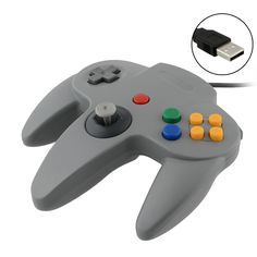 on aime New USB Game Wired Controller Joypad Joystick Gamepad For Nintendo for Gamecube for N64 64 Mac Grey chez Unigro