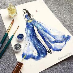 Fashion Design Drawings, Fashion Sketches, Fashion Illustration Dresses, Disney Designs, Black Girl Art, Jewellery Sketches, Dress Sketches, Pretty Art, Apparel Design