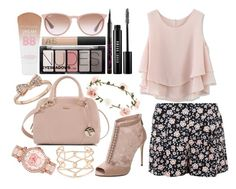 """""""Nude floral"""" by grace-xcix ❤ liked on Polyvore"""