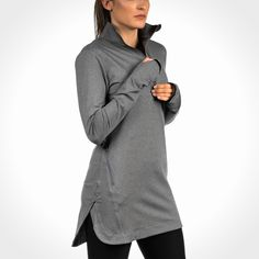 Veil Spark Half-Zip Modest Activewear, Modest Sportswear, and Sports Hijabs Modest Fashion, Hijab Fashion, Fashion Outfits, Sport Fashion, Muslim Fashion, Hijabs, Modest Workout Clothes, Mode Simple, Hijab Chic