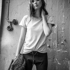 Stockholm model off duty ❤️ @mollymyrsten #IMARAGDOLL  Get the look: Ragdoll LA Vintage Tee & Skinny Long Johns xxxxx
