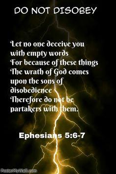 Ephesians 5:6-7