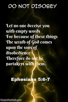 Eph 5:6-7