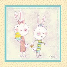 Bunny Boy & Girl Card | Flickr - Photo Sharing!