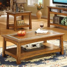 Riverside Craftsman Home Rectangle Cocktail Table   from hayneedle.com