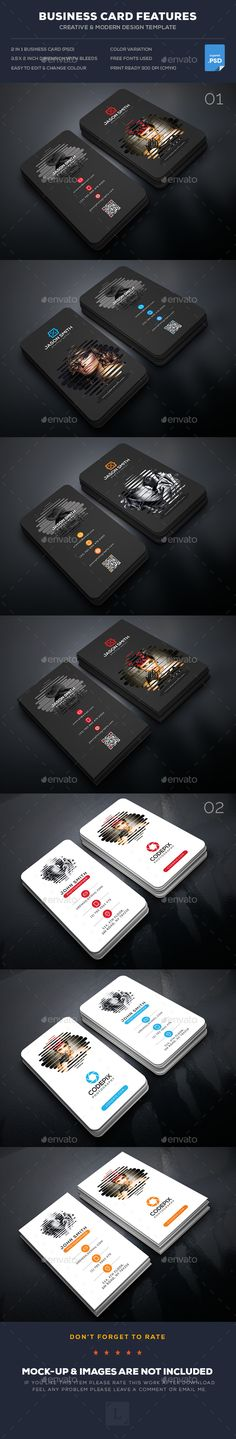 Photography Business Card Templates PSD Bundle.