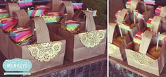 Paper Bag Baskets || Magical Unicorn Party by Three Little Monkeys Studio