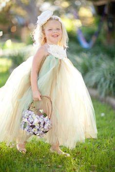 Rustic Wedding Flower Girl