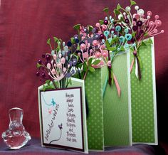 Double Cascade card - bouquets made with Memory Box Chloe die