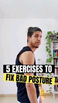 Gym Workout For Beginners, Gym Workout Tips, Fitness Workout For Women, Easy Workouts, Fitness Diet, Workout Videos, Health Fitness, Posture Correction Exercises, Posture Exercises