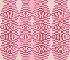 Op Art- Bubblegum fabric by wren_leyland on Spoonflower - custom fabric