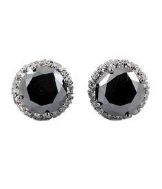 AAA Quality Black Diamond Studs in 925 Silver, #jewelry #earrings @EtsyMktgTool #citrine #gemtonering #sterlingsilverring #diamondstuds