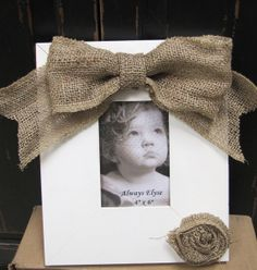 Rustic Burlap Picture Frame by AlwaysElyse on Etsy