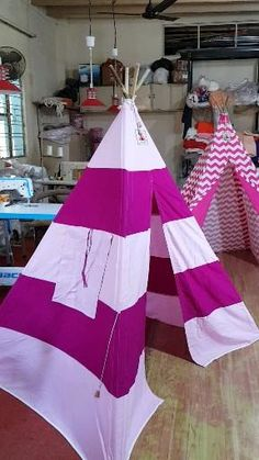 Kids Teepee Tent, Play Tents, Teepees, Childrens Tent, Holiday Decor, Home Decor, Interior Design, Home Interior Design, Home Decoration