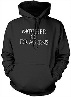 Hotscamp Men's Mother Of Dragons Daenerys Targaryen Got Hoodie XX-Large Black - Brought to you by Avarsha.com