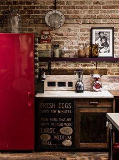 keuken kleuren, rode accenten voor de moderne keuken ontwerp en de inrichting
