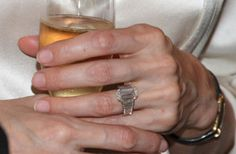 Angelina Jolie's engagement ring from Brad Pitt | Photo Credit: Getty