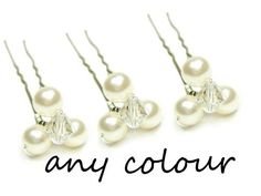 ANY COLOUR Triple Pearl & Crystal Bridal Wedding by BeautifulBeau, £2.39