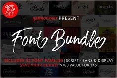 Font Bundle 2018 by Ijemrockart on @creativemarket