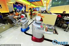 Now WALL-E-Style Robotic Waiters Will Serve You Food In This Chinese Restaurant - https://technnerd.com/now-wall-e-style-robotic-waiters-will-serve-you-food-in-this-chinese-restaurant/?utm_source=PN&utm_medium=Tech+Nerd+Pinterest&utm_campaign=Social