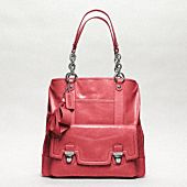POPPY LEATHER PUSHLOCK TOTE  I need this.
