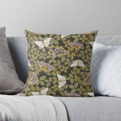 Clovers, Designer Throw Pillows, Pillow Design, Butterflies, Vibrant, Art Prints, Printed, Awesome, Summer