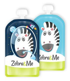 New designs - Zebra&Me Reusable Food Pouch. Fill with favourite home-made pureed food, smoothie, yoghurt, pudding,. clean and reuse again and again. Pureed Food Recipes, Zebras, Flask, Smoothie, Lunch Box, Pouch, Packaging, Cleaning, Homemade