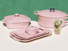 New hibiscus pink kitchenware by Le Creuset.