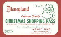 1967 Disneyland Christmas Shopping Pass