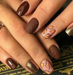 Stylish Nails, Trendy Nails, Cute Nails, Fall Nail Art Designs, Toe Nail Designs, Fall Acrylic Nails, Autumn Nails, Nagellack Design, Thanksgiving Nails