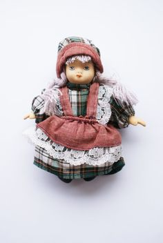 Danish Vintage Porcelain Doll by Schulinhaus on Etsy, $11.00