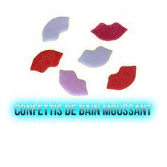 ✭ Confettis de bain moussant bouches - Boite de 12gr ✭