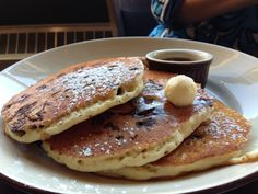 Chocolate Chip Pancakes - Sunday brunch at Legends Bar & Grill