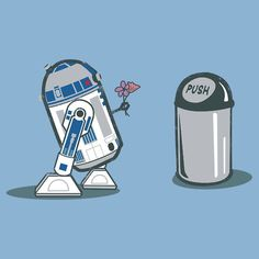 R2-D2 in love...I laughed too hard at this. - Click image to find more Geek Pinterest pins