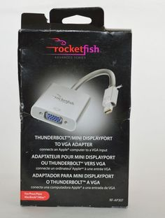 #buyitnow #ebay Rocketfish Mini DisplayPort #Thunderbolt-to-VGA Adapter RF-AP307 HD Monitor #Rocketfish