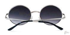 Óculos De Sol Redondo Médio Em Metal Estilo John Lennon    Ui! Gafas
