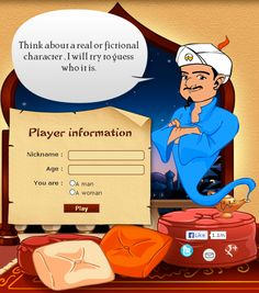 Akinator, the Web Genius! this is the coolest mind reading thing EVER it hasent been wrong yet