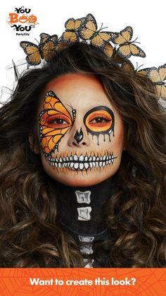 Cool Halloween Makeup, Halloween Make Up, Halloween Costumes, Halloween Ideas, Makeup Videos, Makeup Tips, Eye Makeup, Makeup Tutorials, Day Of Dead Makeup